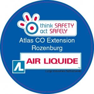 Air Liquide Atlas CO Extension Rozenburg Helmsticker